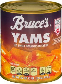 26 Best Bruce S Yams Side Dish Recipes Images Yam Or Sweet Potato