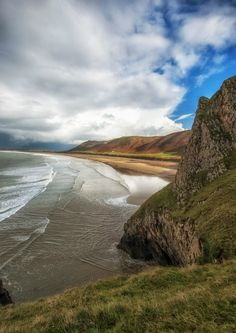 Rhossili beach, Gower, Swansea, South Wales, UK