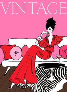 Illustrations / Lovely vintage inspired illustration by megan hess