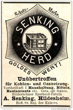 Original-Werbung/ Anzeige 1897 - SENKING - HERD - HILDESHEIM - ca. 45 x 65 mm