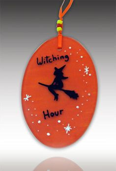 Witch Ornament by ART on Glass Studio. American Made. See the designer's work at the 2016 American Made Show, Washington DC. January 15-17, 2016. americanmadeshow.com #americanmadeshow, #americanmade, #glass, #artglass, #ornament, #witch, #halloween