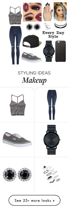 """""""Every day style"""" by cams-cloud on Polyvore featuring moda, Abercrombie & Fitch, George, Brixton, Vans, Static Nails, Topshop, Charlotte Russe y Movado"""