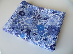 fat eight Liberty Fabric Tana Lawn Blue Floral Tissu Tessuti Beth's Flowers Liberty of London by FitaDeVies