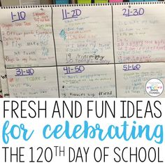 Fresh And Fun Ideas for Celebrating the 120th Day of School