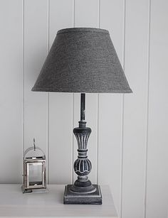 Grey Table Lamp from The White Lighthouse