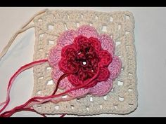 "Adventkalender 24 * Granny Square ""Irische Rose im Schnee"" Granny Square ""Irish rose in the snow"""