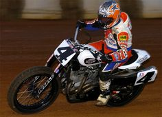 7 Time AMA Grand National Flat Track Champion and last year's Indy Mile Winner Chris Carr
