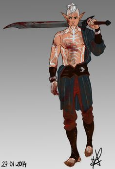 My art concept art digital art dragon age redesign fenris serpentsshipmate