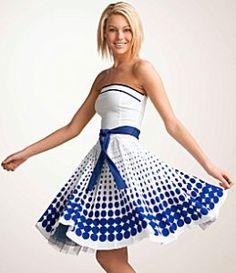 Ruby Rox Dotted Poplin Dress