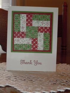 Christmas Quilt Thank You Cards