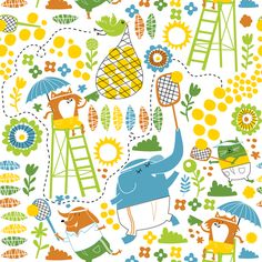 tennis top ten winner fabric by laurawrightstudio on Spoonflower - custom fabric