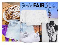 """State Fair Date"" by ari-ellah ❤ liked on Polyvore featuring Alexander Wang, BRIT*, Miguelina, NIKE, statefair and summerdate"