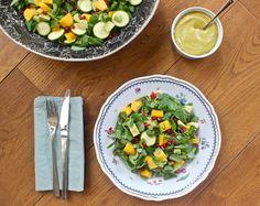 Mango, Avocado and Pomegranate Salad with the BEST Mango Chilli Dressing - DeliciouslyElla