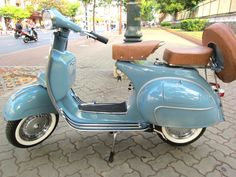 Vespa - light blue, leather seats... just beautiful!
