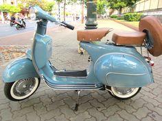 Vespa - light blue, leather seats... just beautiful!
