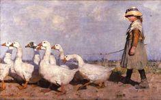 James Guthrie ~ To New Pasture ~ (Scottish: 1859-1930)