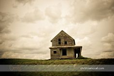 Haunted - Abandoned house on side of the highway, Alberta, Canada.