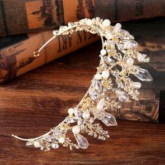 Druzy Wedding Crown Headband Tiaras for Women Flower Bride Crystal Tiaras Crowns King Wedding Hair Accessories Fashion Jewelry