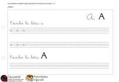 Ficha en pdf para trabajar la letra A