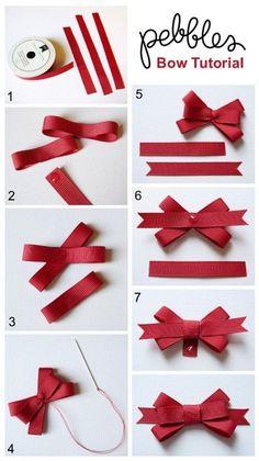 "Ways To Make Fancy Bows ""Back To School Cards with Bow Tutorial - Pebbles, Inc."", ""Bow Tutorial by Mendi Yoshikawa Yoshikawa"", ""Best bow tutorials - Diy Ribbon, Ribbon Crafts, Ribbon Bows, Paper Crafts, Ribbon Flower, Hair Bow Tutorial, Flower Tutorial, Pouch Tutorial, Ribbon Bow Tutorial"