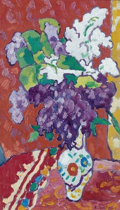 Bouquet of Glycinias 1939 Louis Valtat