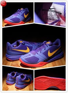 Best Cheap Nike Zoom Kobe Mentality 704942-500 Purple / yellow / red Mens G4VG18