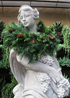 Love how the angel is decked out in firs..hehehehe.