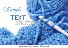 Blue silky yarn with crochet hook and completed stitches on white background with copy space. Macro with shallow dof. by Marie C Fields, via ShutterStock Easy Crochet Hat, Love Crochet, Crochet Yarn, Crochet Hooks, Yarn Projects, Crochet Projects, Design Projects, Art And Craft Images, Crochet Needles