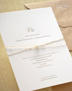 tying the knot with kraft paper and twine
