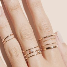 Unique Diamond Wedding Ring in Gold / Rose Gold Wedding Band / Stackable Diamond Ring / Promise Ring / Stacking Ring / Labor Day Sale - Fine Jewelry Ideas Diamond Jewelry, Silver Jewelry, Silver Ring, Fine Jewelry, Stylish Jewelry, Marcasite Jewelry, Quartz Jewelry, Luxury Jewelry, Beaded Jewelry
