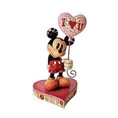 Jim Shore Traditions - Micky Maus mit Herzluftballon  #MickyMaus #Muttertag #mothersday ©Disney