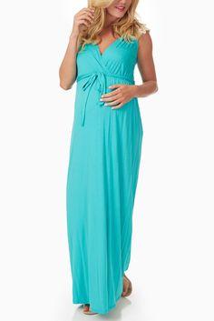 e003e90a97e2 Aqua-Crochet-Back-Maternity/Nursing-Maxi-Dress Pink Blush Maternity