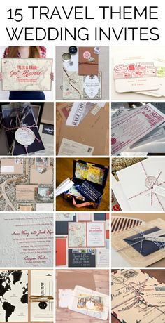 Travel themed wedding invitations   SouthBound Bride   Full credits & links: http://www.southboundbride.com/travel-themed-wedding-invitations