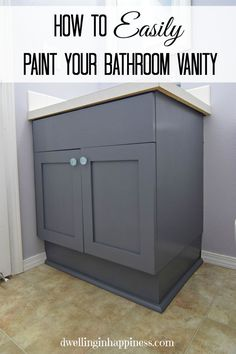 Painting Bathroom Cabinets Gray how to paint oak cabinets | painted oak cabinets, painted bathroom
