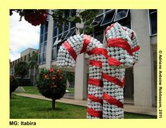 ITABIRA (MG) Christmas decorations made of PET bottles (2009)