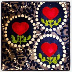 Detalhe de pintura em MDF por Luiza Criativa .