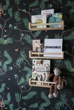 Designed for Living Monkey Wallpaper, Kidsroom, Room Inspiration, Baby Room, Nursery Decor, Amanda, Children, Color, Child Room