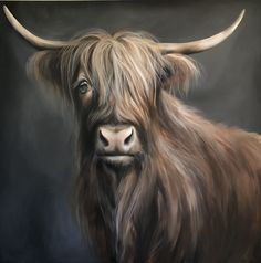 Highland Cow Painting, Highland Cow Art, Highland Cattle, Beautiful Horses, Animals Beautiful, Cute Baby Cow, Scottish Highland Cow, Fluffy Cows, Cow Pictures