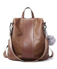 875525af20 Women Backpack Purse Soft PU Leather Fashion Anti-theft Lightweight School  Ladies Travel Shoulder Bag - 1-brown - CD18DAHYU7A