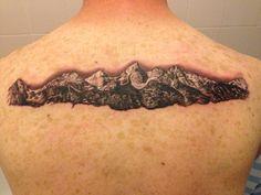 Grand Tetons #first tattoo #Tetons #metalurgy in Dundee. #tattoo #mountains