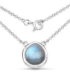 Labradorite & Sterling Silver Pendant Necklace