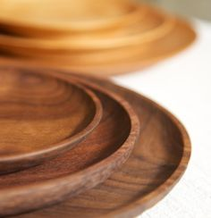 delicate wooden plates from Cranewalk