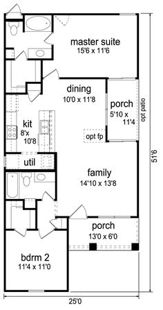 First Floor Plan of Cottage   Craftsman   House Plan 69938