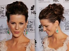 Kate Beckinsale has the best hair. (Wedding updo)