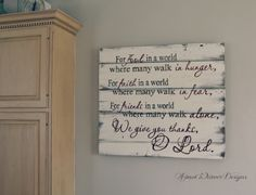 Blessing sign - great for the dining room or fireplace room