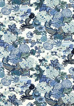 Indigo Blue and White fabric