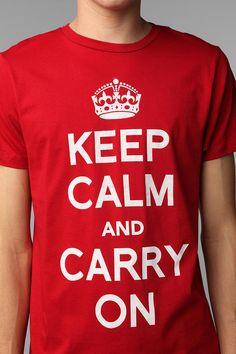 Keep Calm Tee  #UrbanOutfitters