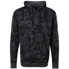 Over The Head Camo Hoodie ($17) ❤ liked on Polyvore featuring tops, hoodies, camouflage top, camouflage hoodies, hoodie top, camo hoodie and camo hoodies