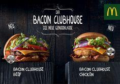 McDonald's präsentiert eine Neuheit – die Premium-Plattform Bacon Clubhouse: Ab dem 26. März werden der Bacon Clubhouse Beef und der Bacon Clubhouse Chicken