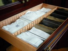 Equip your drawers with dividers. Everyone knows how frustrating it is to dig through a drawer for the right T-shirt or socks. Avoid this by using dividers so that each item has its own designated place.